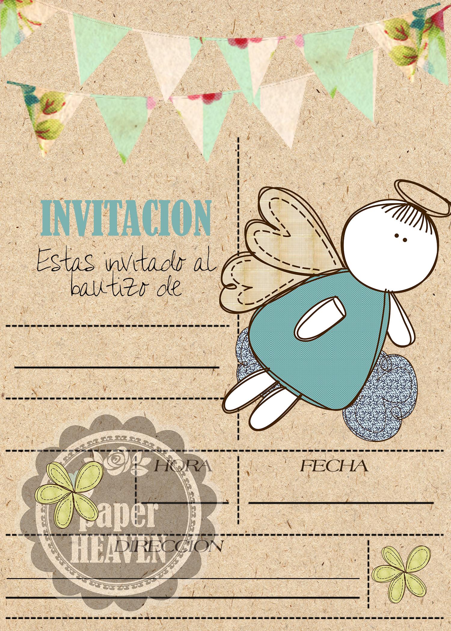 Invitaciones para bautizo ni a y ni o - Decoracion para bautizo de nino y nina ...
