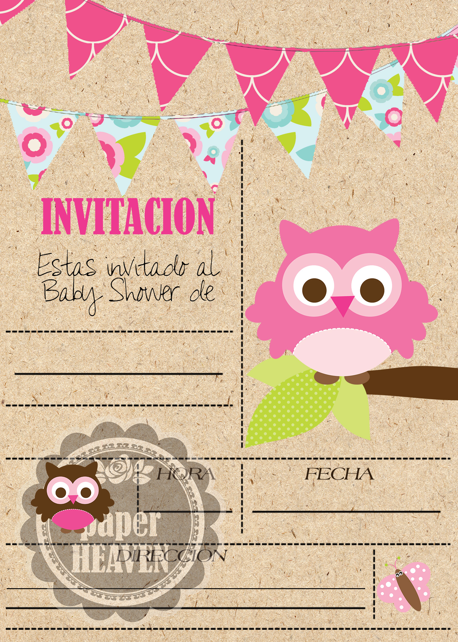 Invitacion Baby Shower Niño